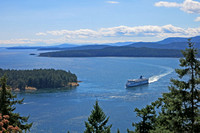 BC Ferry entering Active Pass from Victoria